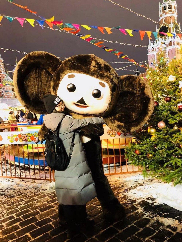 田曄在莫斯科紅場新年集市上
