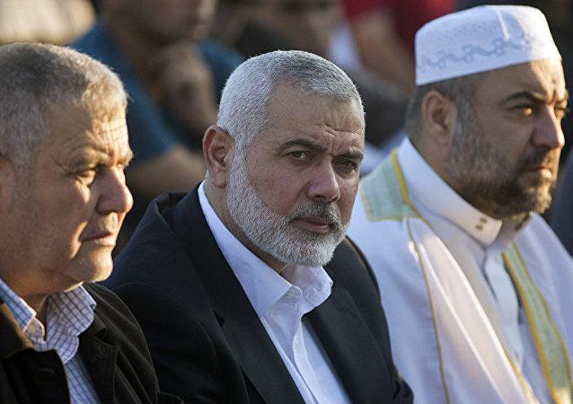 Palestinian Hamas top leader Ismail Haniyeh