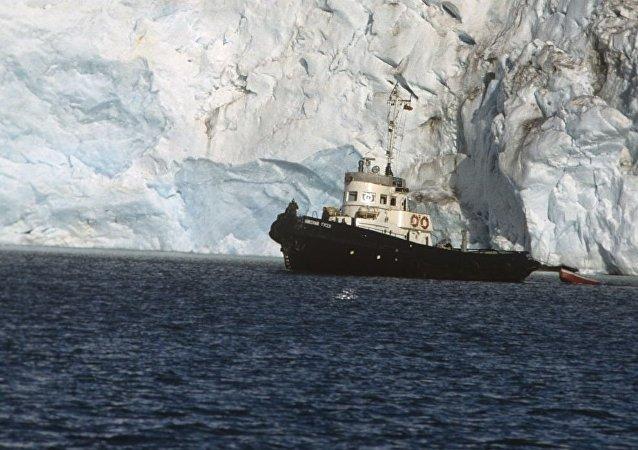 斯瓦爾巴群島的Nordenskiöld冰川