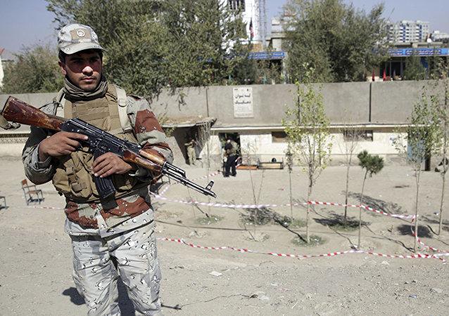 Полицейский в Афганистане.