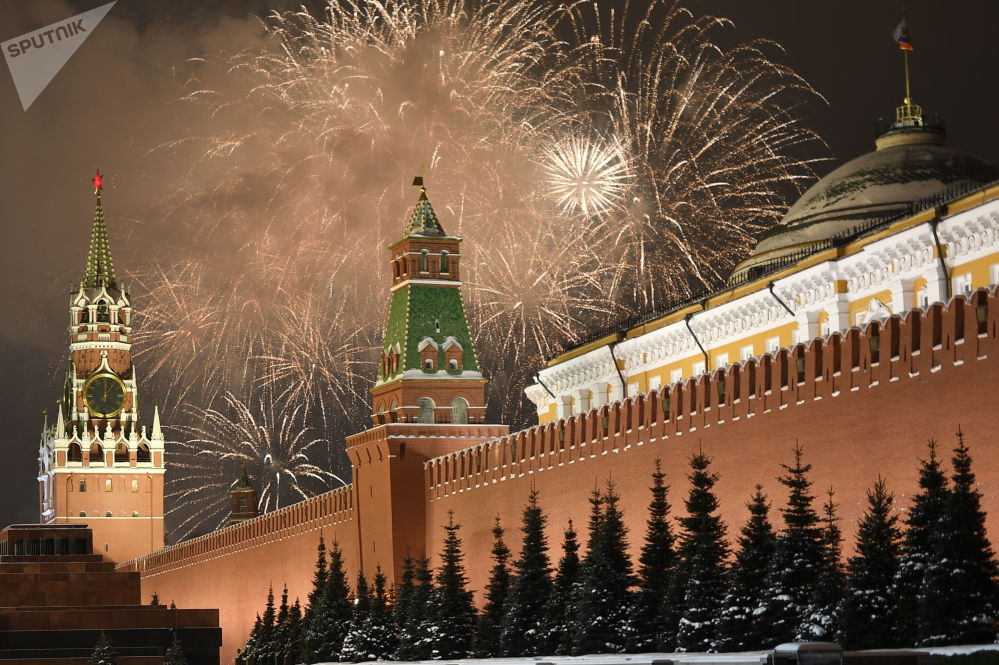 莫斯科慶祝新年時的節日煙花