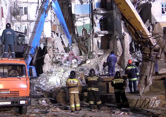 俄馬格尼托戈爾斯克爆炸所有遇難者遺體已從廢墟中挖出 共39人喪生