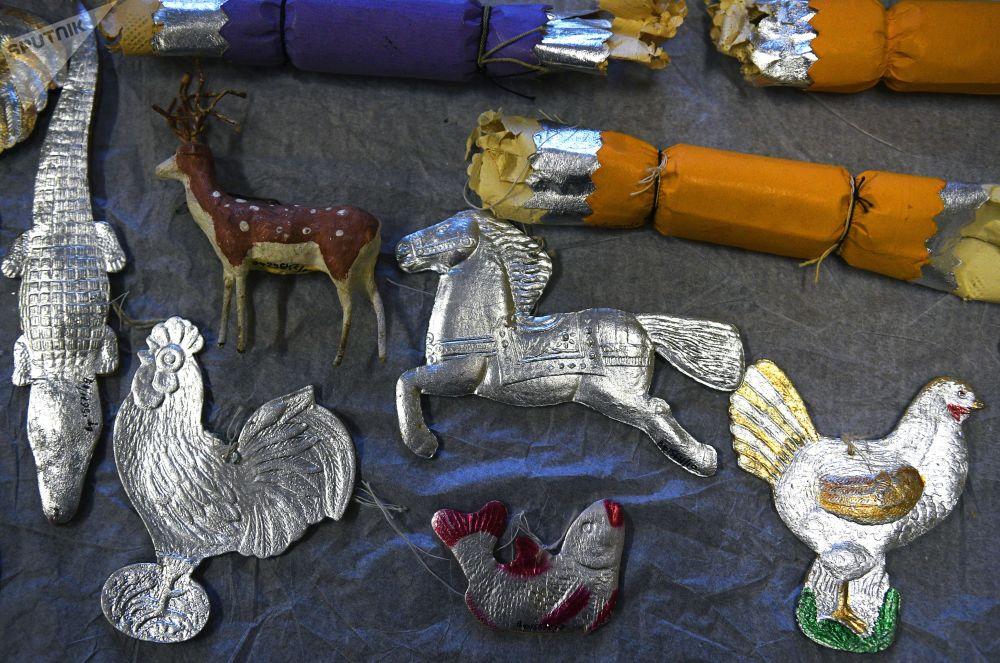 莫斯科博物馆的新年装饰展品