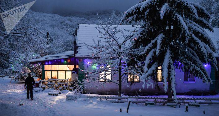 克里米亚安加尔斯克山口的冬天