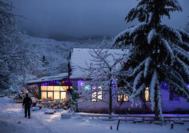 克里米亞安加爾斯克山口的冬天