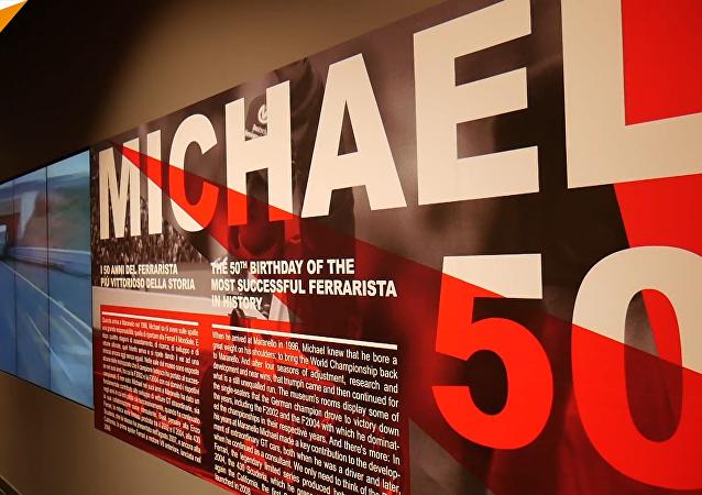 法拉利博物馆举行特展庆祝舒马赫50岁生日