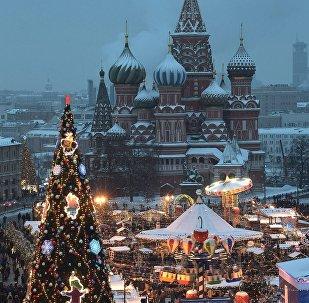 莫斯科紅場上的新年裝飾