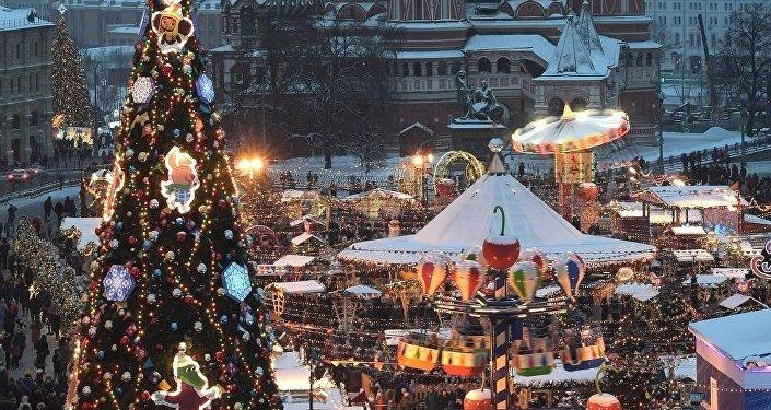 莫斯科红场上的新年装饰