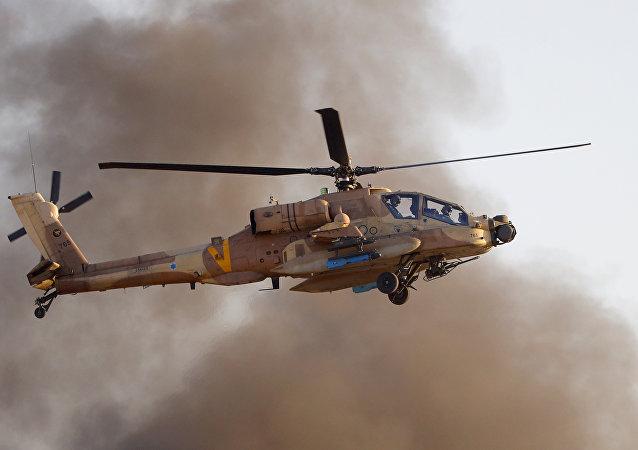 以色列出动直升机空袭加沙地带哈马斯军事目标
