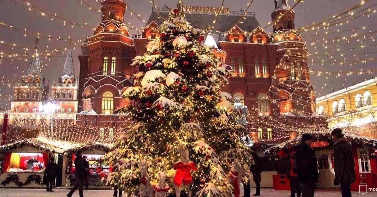 红场上俄罗斯喜迎新年