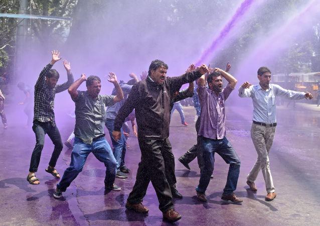 印度抗议(资料图片)