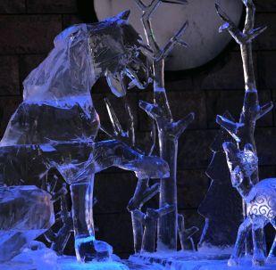 代表队作品获中国哈尔滨国际冰雕比赛二等奖