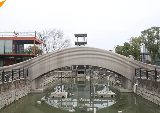 上海宝山现全球最长3D打印混凝土桥
