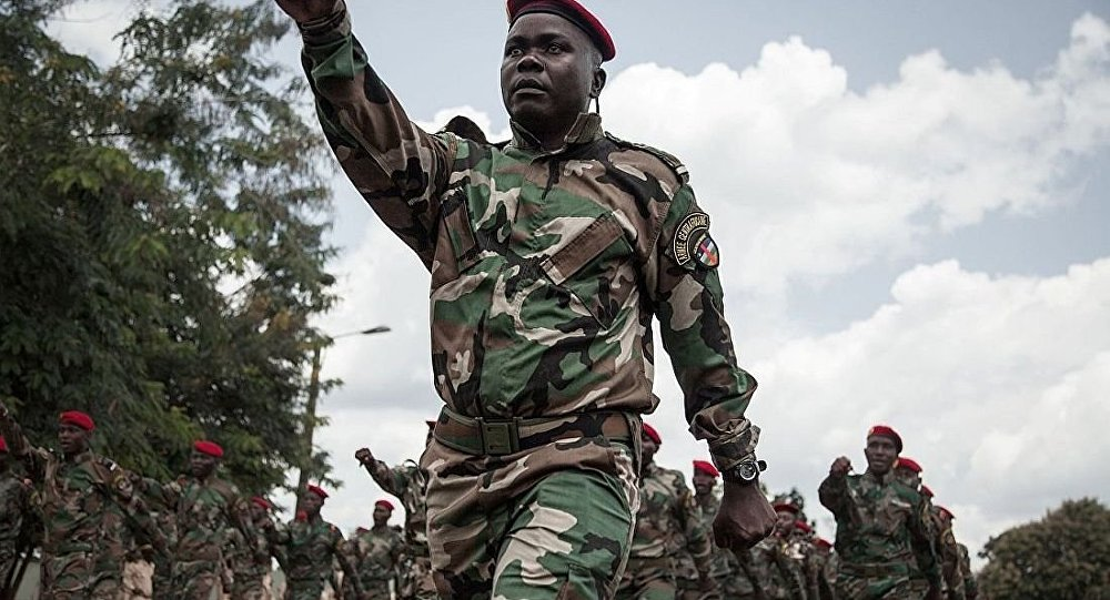 中非军队新兵