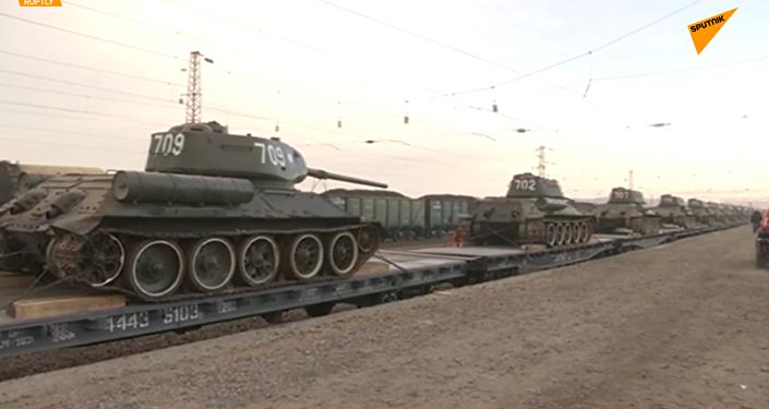 30輛傳奇T-34坦克從老撾返回俄羅斯