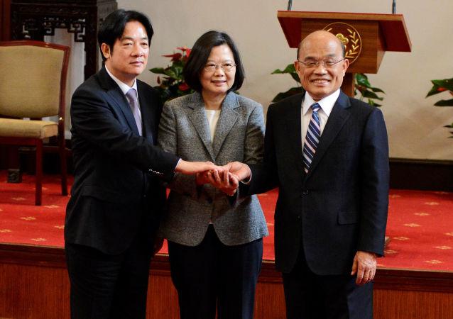 """苏贞昌正式就任台湾""""行政院长"""""""