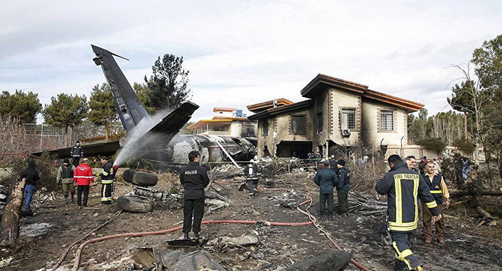 伊朗德黑蘭附近失事飛機上僅有一人生還