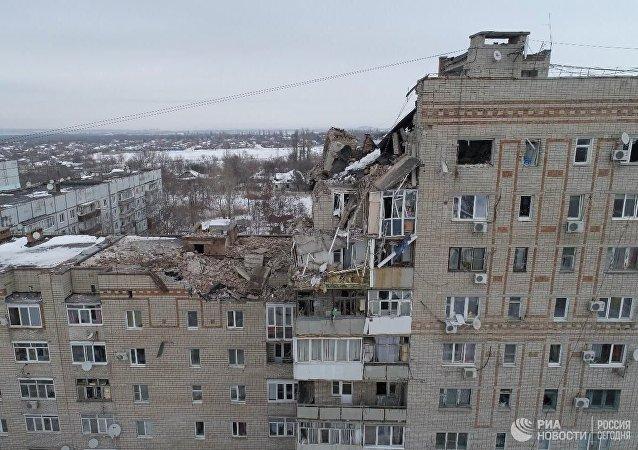俄沙赫特市居民楼燃气爆炸造成16户住房损坏