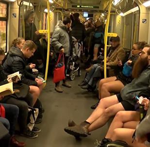 不穿褲子乘地鐵
