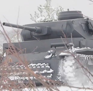 俄舊奧斯科爾市現德國3號坦克復製品
