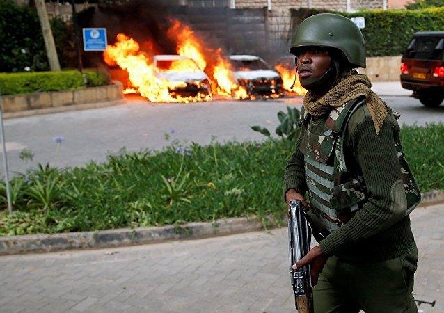 媒体:肯尼亚内罗毕一酒店附近再次响起枪声和爆炸声