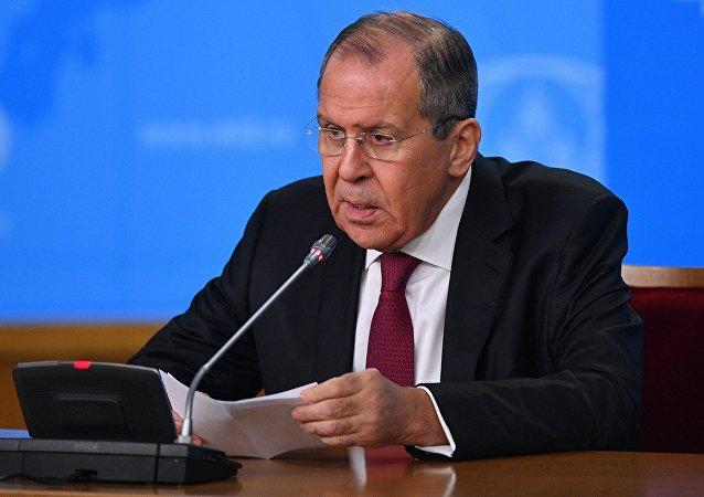 Пресс-конференция главы МИД РФ С. Лаврова