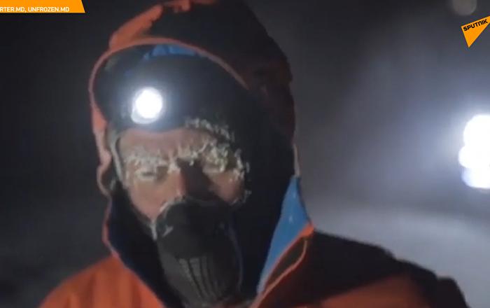 極限運動員在俄雅庫特零下60度嚴寒中長奔50公里