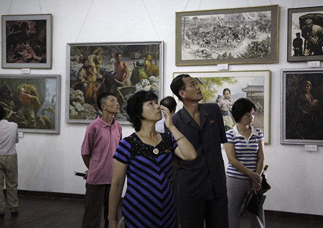 韩海关因联合国制裁扣押九幅朝鲜画作
