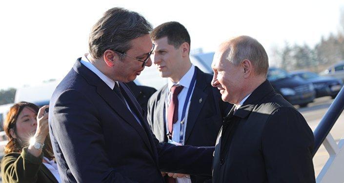 普京抵达塞尔维亚开启为期一天的访问