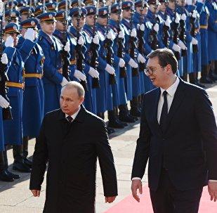 普京:俄罗斯将继续协助塞尔维亚强化国防力量