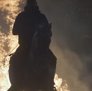 騎馬跳火:西班牙聖安東尼節