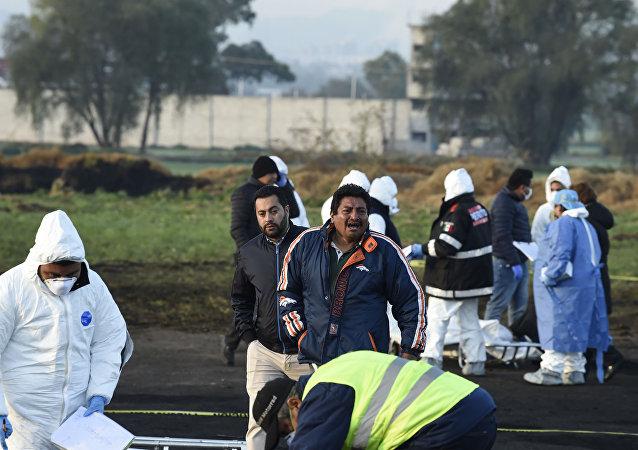 墨西哥油管爆炸導致的死亡人數達79人