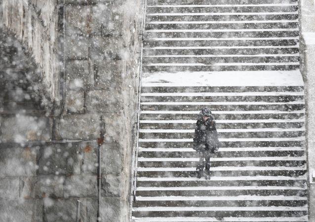 莫斯科降雪量打破140年前的记录