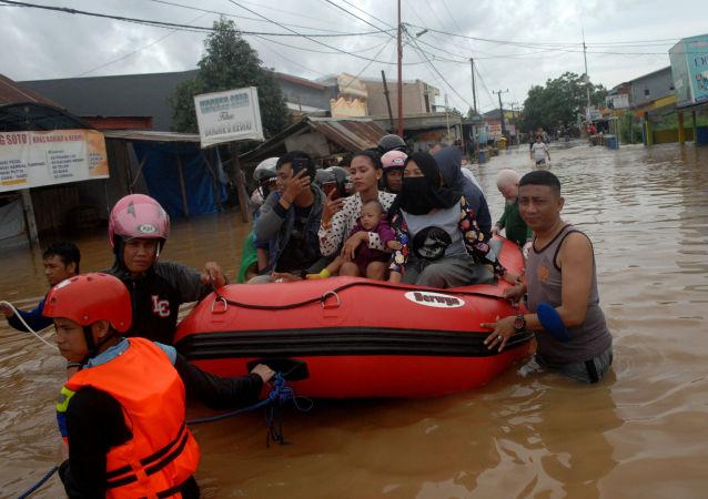 印尼因水灾及山体滑坡造成的遇难人数已升至26人