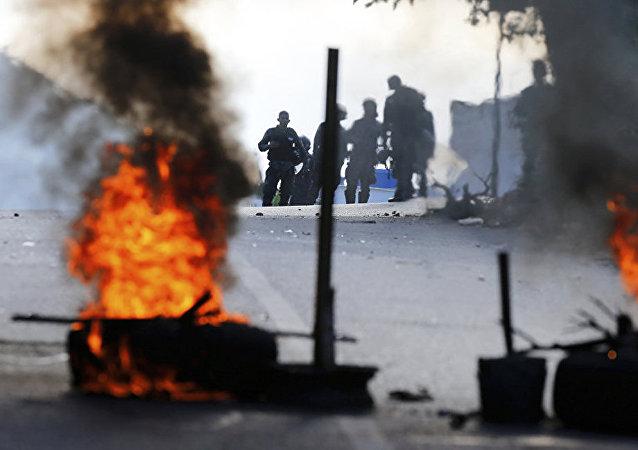 Протесты в Венесуэле.