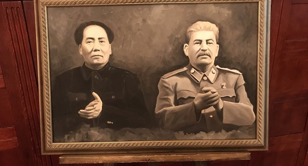 斯大林與毛澤東主席