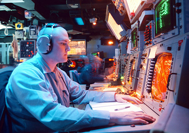 「宙斯盾」反導系統的控制面板