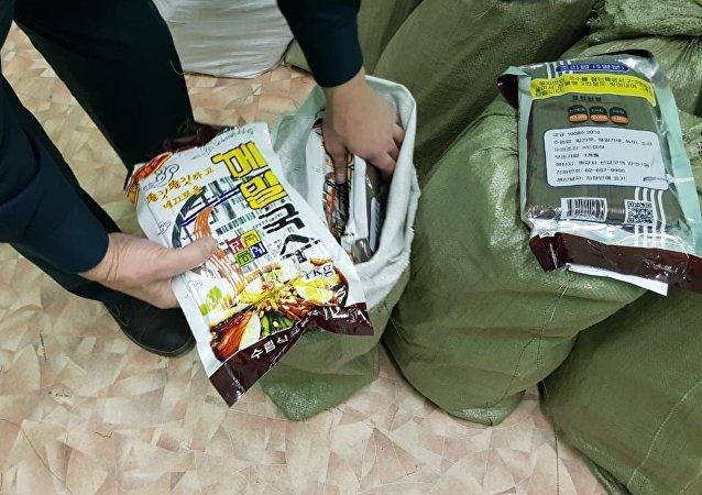 朝鲜公民试图非法走私660公斤面条
