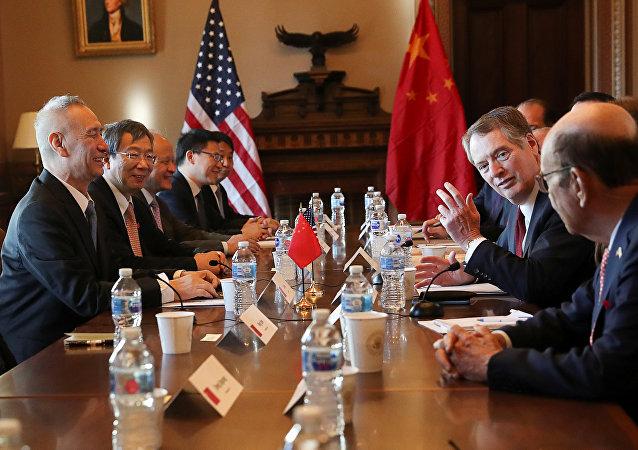中美代表在华盛顿开始进行贸易谈判,1月30日