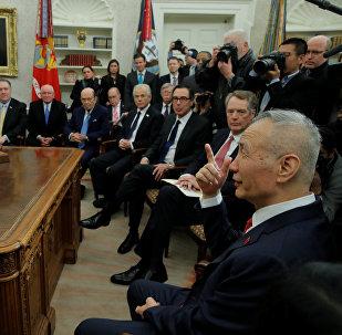 中国国务院副总理刘鹤称最新的与美贸易磋商富有成效
