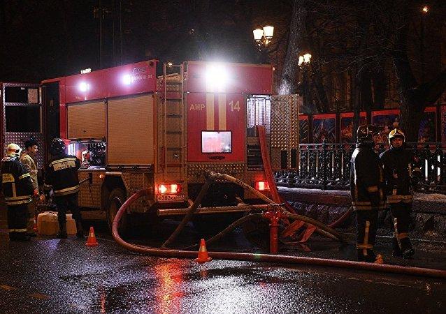 莫斯科尼基茨基大道12號發生火災
