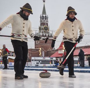 紅場上的冰壺賽