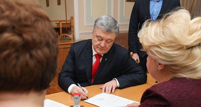 乌克兰中选委正式登记波罗申科为总统候选人