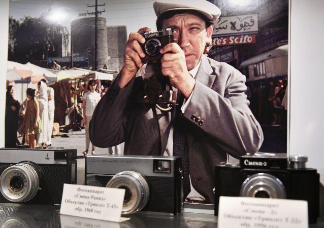 莫斯科电影制片厂博物馆里的摄影设备展示