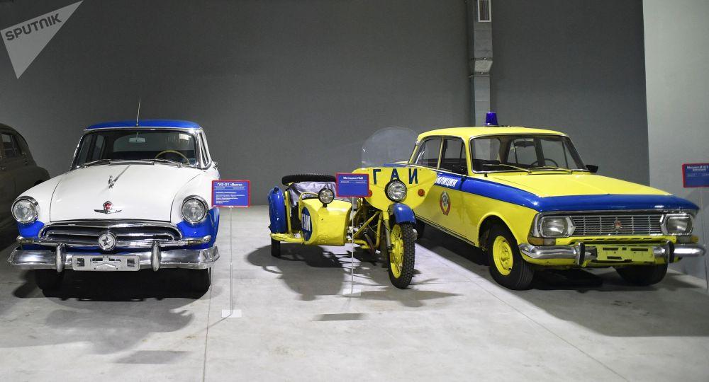 莫斯科電影製片廠博物館裡的車輛道具