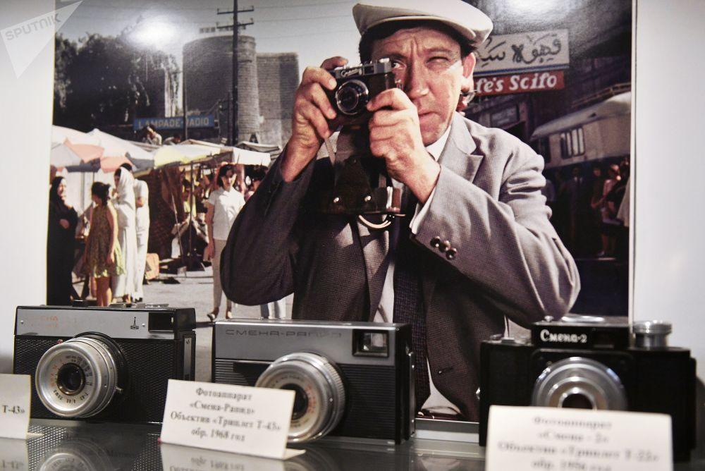 莫斯科電影製片廠博物館裡的攝影設備展示
