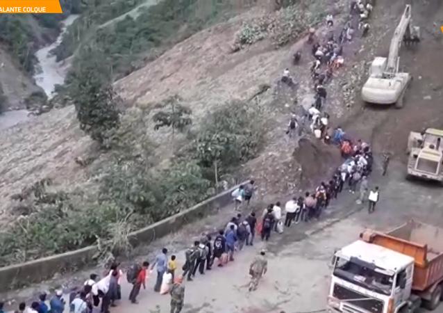 玻利維亞發生兩次山體滑坡