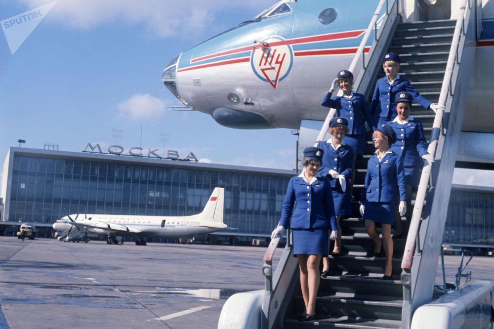 在莫斯科的多莫杰多沃机场
