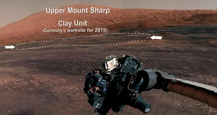 NASA公布好奇号火星车拍摄的火星全景