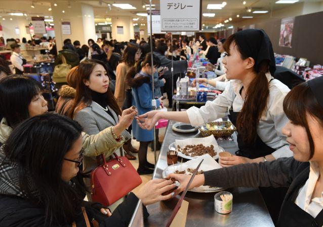 日本女性在情人节